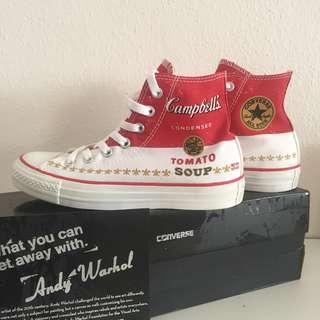 CNY SALES BNIB Andy Warhol x Converse 2015 Chuck Taylor Collection