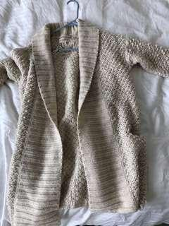If it were me brand at Simons beige wool cardigan
