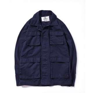 Navy blue military jacket