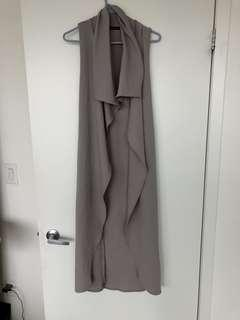 Mendacino Grey long vest cardigan