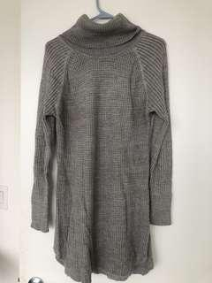 Mendacino grey turtleneck sweater dress