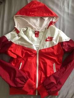 Nike women's red wind breaker