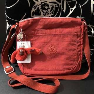 Kipling Sebastian ~ Red Rust Crossbody Bag