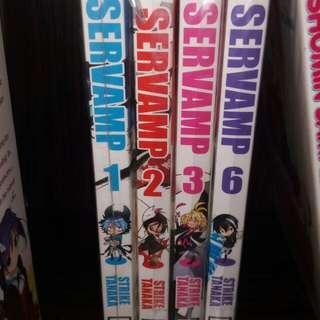 Servamp Manga Vols 1-3&6