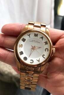 Marc Jacobs well-loved rose gold watch