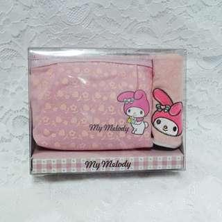 2004年 絕版MyMelody Towel + Cosmetic Bag Set