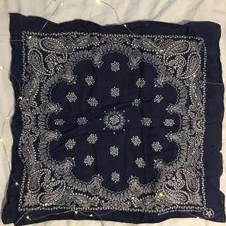 Bandana navy blue 100% Cotton