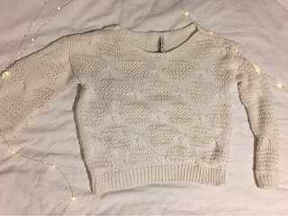 White Knit sweater (Stradivarius)