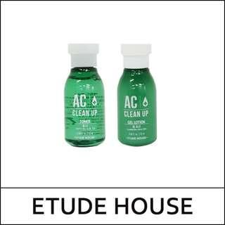 #EST50 ETUDE HOUSE  3sets AC Clean Up Toner + Gel Lotion (15ml+15ml) * 3set (Total 45ml+45ml)