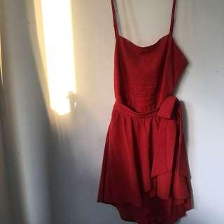 Red Fashionova Playsuit