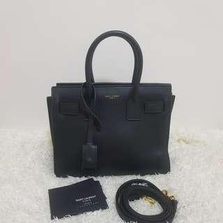 ON HAND: Authentic Yves Saint Laurent Sac De Jour Nano Leather Tote Crossbody Bag