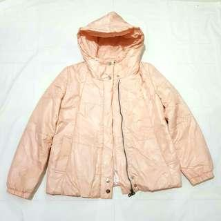 Girl's Peachy Pink Puff Jacket