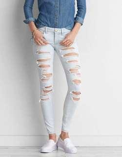 AEO Ripped Super Low Jeggings
