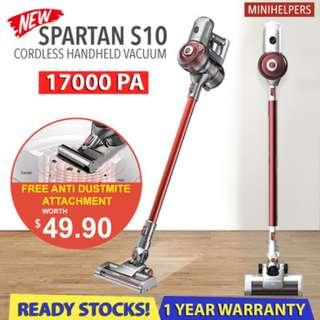 【11.11 FREE MITE】SPARTAN S10 17kPA Suction Power | Cordless Vacuum | All New Flagship Model❗