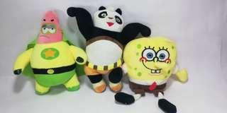 Assorted stuffed toys plushies