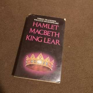 3 Shakespeare books in 1 Hamlet Macbeth King Lear