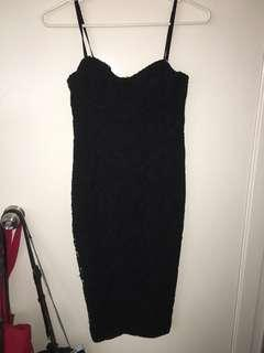 Fresh soul lace dress black