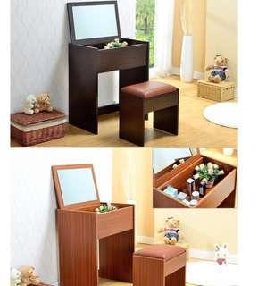 細化粧檯連櫈一套化妝品書枱包送貨 make up table and chair