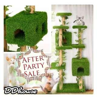 [11.11 After Party Sales] Artificial grass pad cat tree Grass cat tower cat condos grass patch mat cat climber