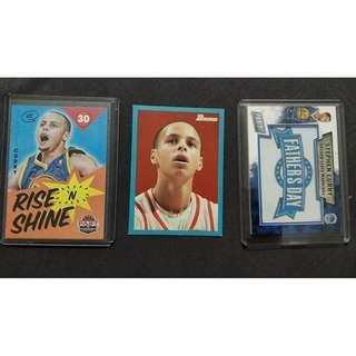 Stephen Curry 3 Card Lot (Bowman RC)