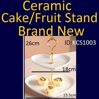 Cake Stand - Heart Shaped - Brand New