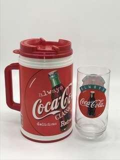 Huge Coca Cola Thermos Mug with free Coca Cola Glass