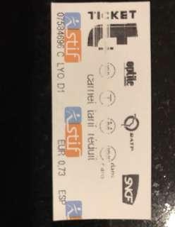Paris Metro Tickets - no expiry date