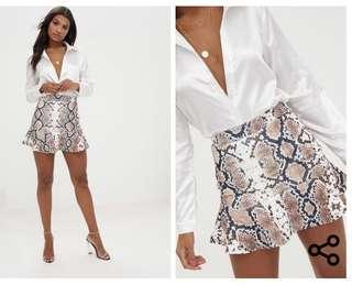 Snake print skirt (6)