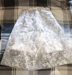 Whistles Crepe Lace Underlay Skirt