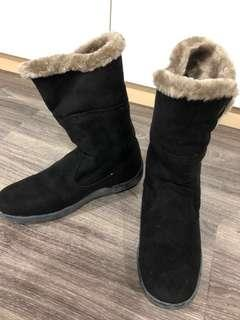 Fur winter boot - high ankle style