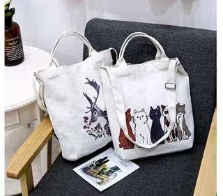 [Xmas sale] Canvas Tote bag / sling bag (2 for $25)
