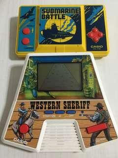 Vintage Casio games - submarine battle / western sheriff