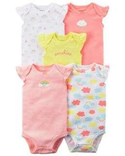 Carters flutter sleeves bodysuits rompers
