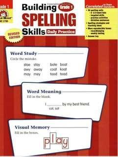 US Evan Moor Building Spelling Skills Worksheets
