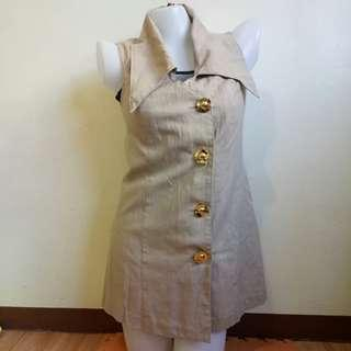 Brown Button Down Dress / Cover Up