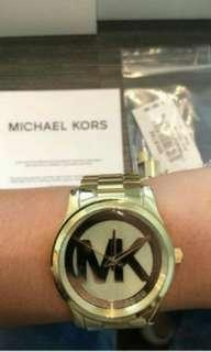 Mk gold watch for woman