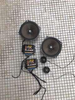 1 set good quality Pioneer 6 3/4 inch round component speakers