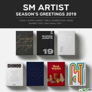 SM ARTISTS' 2019 SEASON GREETINGS ( TVXQ , SHINEE , SNSD , EXO , RED VELVET , NCT )