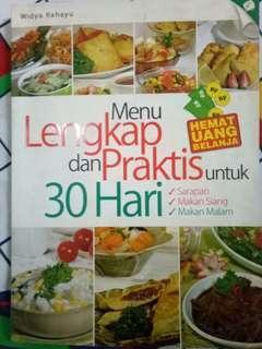 Buku Menu Lengkap dan Praktis untuk 30 Hari