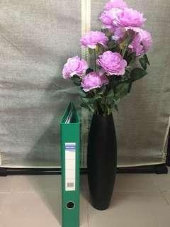 假花(5支)連花瓶