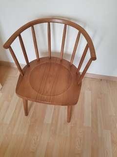 original hard wood elegant chair 90% new