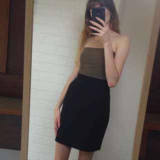 Black highwaisted business skirt