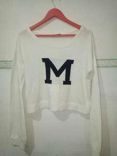 M crop sweater