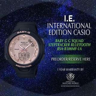 CASIO INTERNATIONAL EDITION BABY G G SQUAD BLUETOOTH STEPTRACKER BSA-B100MF-1A