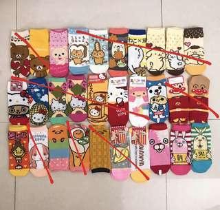 sanrio gudetama rilakkuma hello kitty korean socks