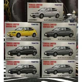 Tomica Limited Vintage Neo Honda Civic Type R TLVN
