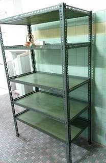 Solid Retro Metal Shelf Unit