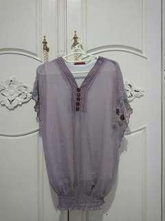 VIR & VIN Purple Top (Atasan Lucu)