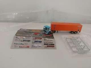 [散裝]全新已絕版tomytec 1:150 n gague 第一彈隱藏版貨櫃車 hino trailer