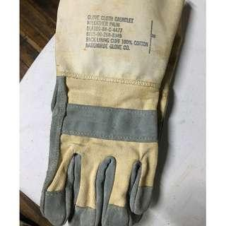 80's US Military Issued Cloth on Leather Palm Full Length Gloves